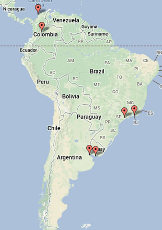 Ballets Russes performance venues in South America, 1909-1929.png